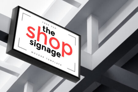 An Image Showing A Signage Mockup For An Outdoor Shop Representing The Effective Signage Concept.